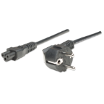 Manhattan Power Cord/Cable, Euro 2-pin (CEE 7/4) plug to C5 Female (cloverleaf/triangular), 1.8m, Lifetime Warranty, Polybag