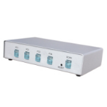 Dynamode 4 Port Automatic KVM Switch supplied with Cables KVM switch