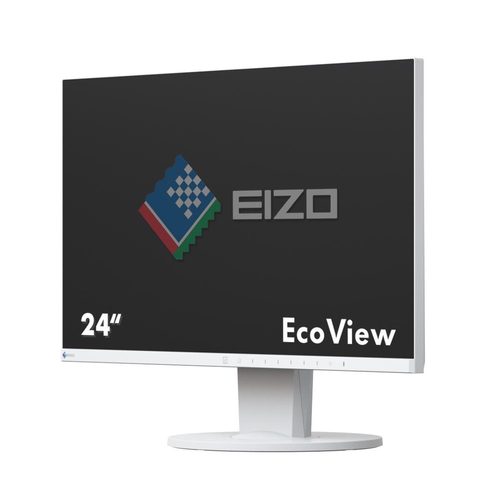 Desktop Monitor - FlexScan EV2450 - 23.8in - 1920x1080 (Full HD) - White - IPS 5ms