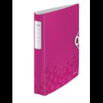 Leitz WOW ring binder A4 Metallic, Pink
