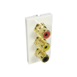 Cables Direct AV-MOD3RCA socket-outlet 3 x RCA White