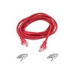 Belkin Patch cable - RJ-45(M) - RJ-45(M) - 3m ( CAT 5e ) - red