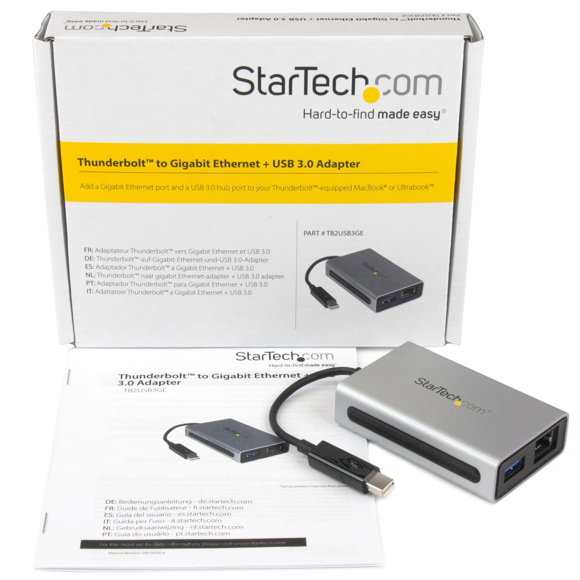 Startech Com Thunderbolt To Gigabit Ethernet Plus Usb 3 0