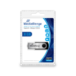 MediaRange MR908 8GB USB 2.0 USB Type-A connector Black, Silver USB flash drive