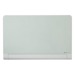Nobo Diamond Glass Board with Rounded Corners Magnetic White 993x559mm