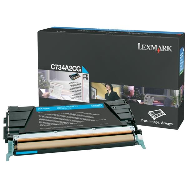 Lexmark C734A1CG Toner cyan, 6K pages