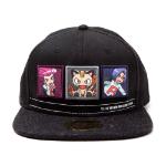 Pokémon Team Rocket Snapback Baseball Cap, One Size, Black/Dark Grey (SB290220POK)