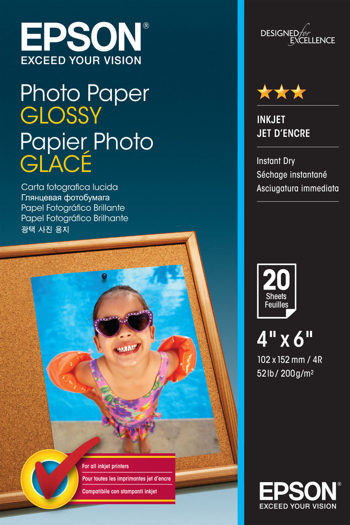 Epson Photo Paper Glossy - 10x15cm - 20 sheets