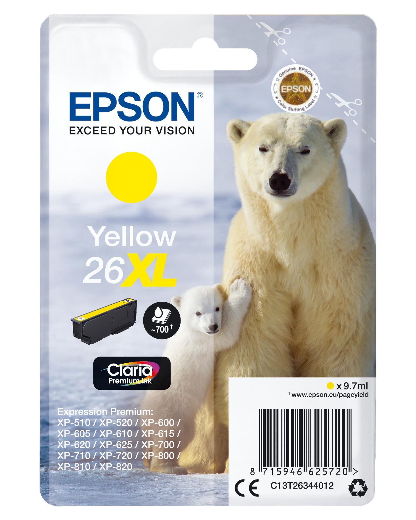 Epson Polar bear Cartucho 26XL amarillo
