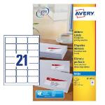 Avery J8160-25 printer label White