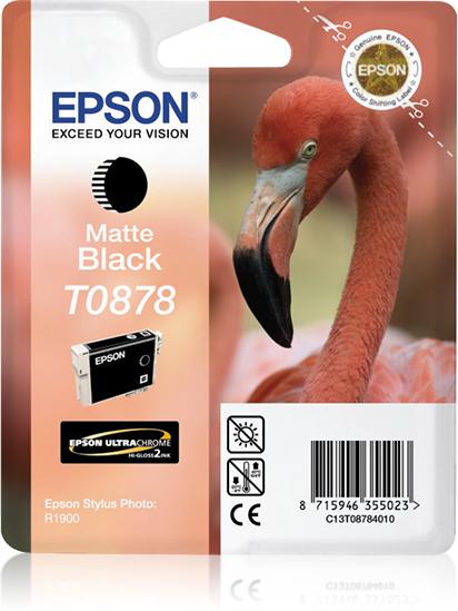 Epson Flamingo inktpatroon Matte Black T0878 Ultra Gloss High-Gloss 2