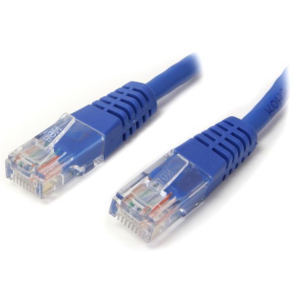 StarTech.com 2 ft Cat5e Blue Molded RJ45 UTP Cat 5e Patch Cable - 2ft Patch Cord