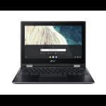 "Acer Chromebook R752T-C2YP 11.6"" 1366 x 768 pixels Touchscreen Intel® Celeron® 4 GB LPDDR4-SDRAM 32 GB Flash Wi-Fi 5 (802.11ac) Chrome OS Black"