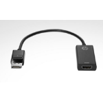 HP DisplayPort/HDMI DisplayPort HDMI Black