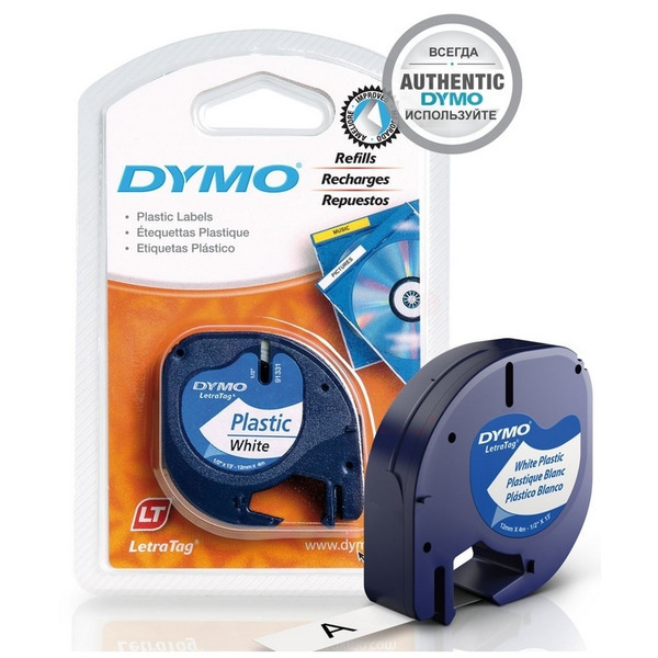 DYMO 91201 (S0721610) DirectLabel-etikettes, 12mm x 4m