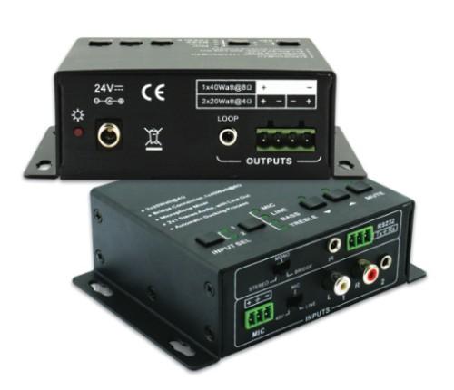 Vivolink VL120004 audio amplifier 2.0 channels Home Black