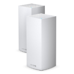 Linksys Velop Whole Home Intelligent Mesh WiFi 6 (AX4200) System, Tri-Band, 2-pack wireless router Gigabit Ethernet Tri-band (2.4 GHz / 5 GHz / 5 GHz) White MX8400-UK