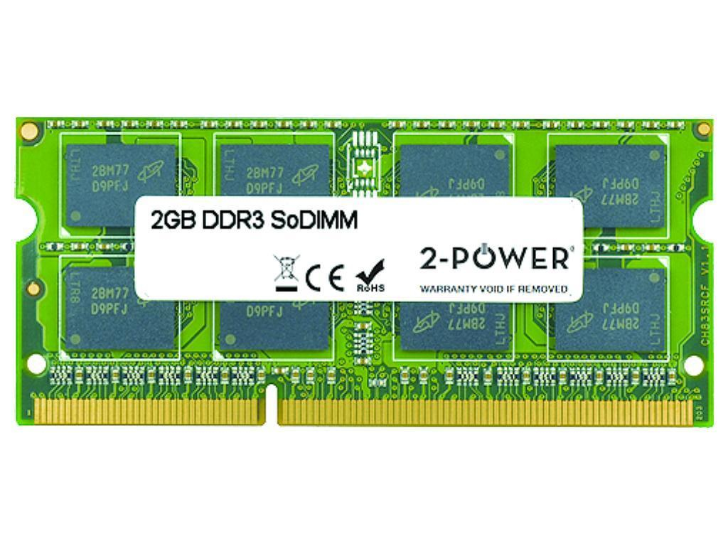 2-Power 2GB MultiSpeed 1066/1333/1600 MHz SoDIMM Memory - replaces 2PSPC31600SDDB12G memory module