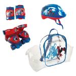 Marvel Spider-Man Quad Skates Set (Quads Skates, Protective Helmet/Pads & Bag) (OSPI002)