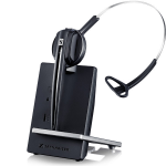 Sennheiser D 10 USB Monaural Ear-hook,Head-band Black,Silver headset