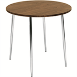 Arista FF ARISTA ROUND BISTRO TABLE WAL/CHROME