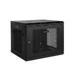 "CyberPower CR6U61002 19"" 6U 450mm depth Wall Mount Enclosure, hex perforated metal door, 60KG loading capacity"