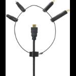 VivoLink PROADRING HDMI Displayport + Displayport mini  HDMI Mini + HDMI Micro Black cable interface/gender adapter