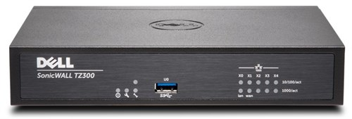DELL SonicWALL TZ300 + TotalSecure 1Y 750Mbit/s hardware firewall