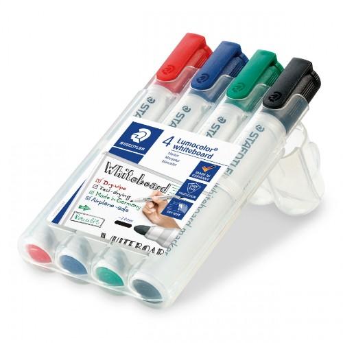 Staedtler Lumocolor 351 B WP4 permanent marker Bullet tip Black, Blue, Green, Red 4 pc(s)