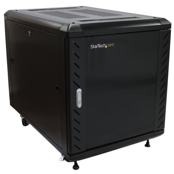 """StarTech.com Armario Rack Cerrado para Ensamblar de 12U 36"""" Pulgadas con Rodamientos"""