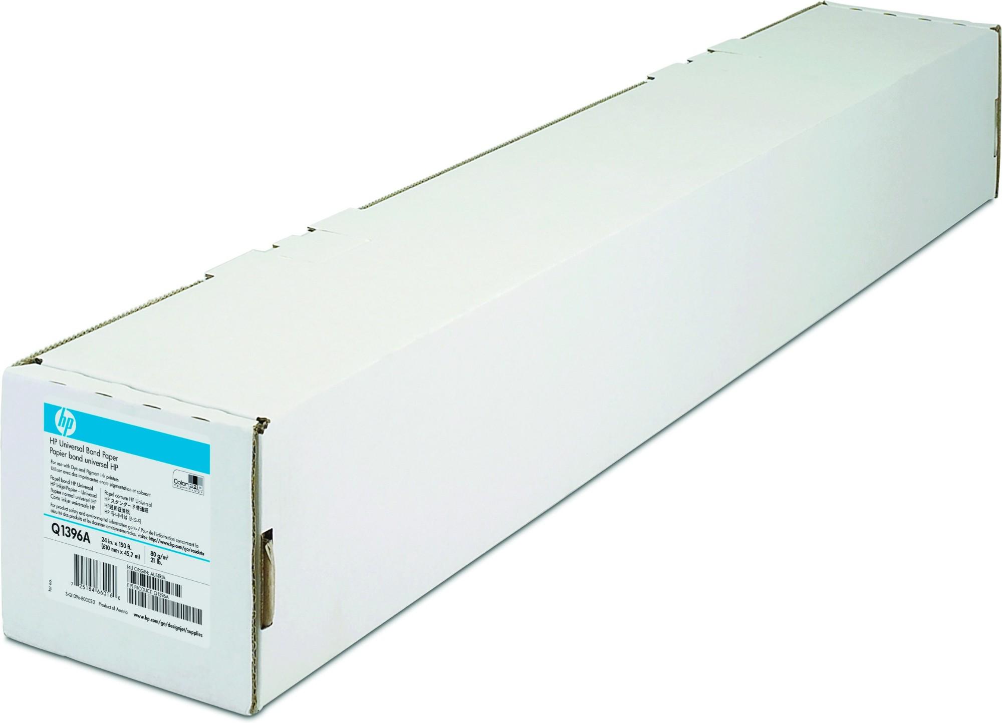 HP Universal Bond Paper 80 gsm-610 mm x 45.7 m (24 in x 150 ft) printing paper Matte