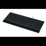 Logitech K280e USB QWERTZ German Black keyboard
