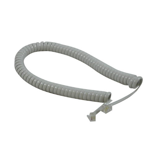 ATL Curly Handset Cord - Light Grey