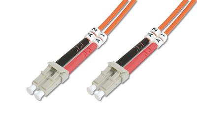 Digitus LC OM2, 2m fibre optic cable Orange
