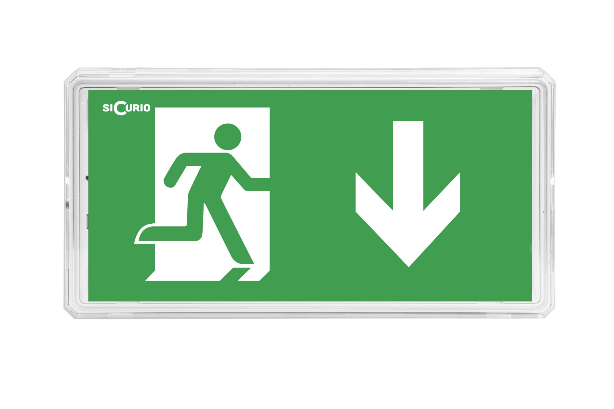 SiCurio ExitIP emergency lamp Green,White