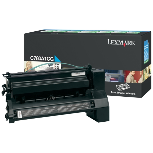 Lexmark C780A1CG Toner cyan, 6K pages @ 5% coverage, Pack qty 2