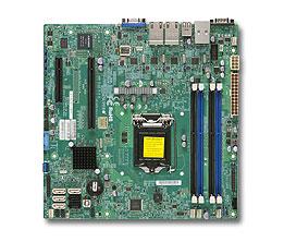 Motherboard X10SLM+-LN4F C224 DDR3 UATX 4XGBE 6XSATA VGA IPMI 1PACK