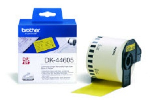 Brother DK-44605 Continuous Removable Yellow Paper Tape (62mm) Amarillo
