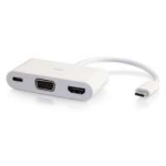 C2G 82103 cable interface/gender adapter USB-C HDMI, VGA, USB-C White