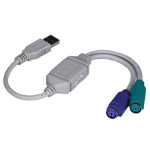 Monoprice 2274 PS/2 cable USB 2x PS/2 Gray