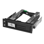 "StarTech.com 5.25 to 3.5 Hard Drive Hot Swap Bay - For 3.5"" SATA/SAS Drives - Trayless"