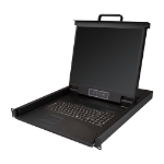 "StarTech.com Rackmount KVM Console - Single Port VGA KVM with 19"" LCD Monitor for Server Rack - Fully Featured Universal 1U LCD KVM Drawer w/Cables & Hardware - USB Support - 50,000 MTBF"