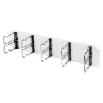 """Digitus Cable Management Panel with Steel Rings for 482.6 mm (19"""") Cabinets, 2U"""
