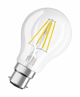 Osram LED Retrofit CL A 4W B22d A++ Warm white LED bulb