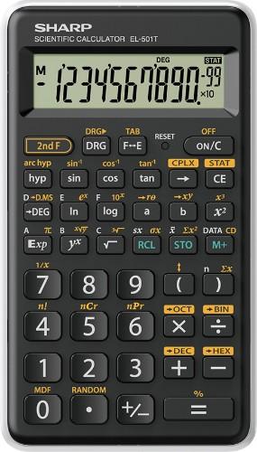 Sharp EL-501T calculator Pocket Scientific Black, White