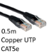 TARGET RJ45 (M) to RJ45 (M) CAT5e 0.5m Black OEM Moulded Boot Copper UTP Network Cable