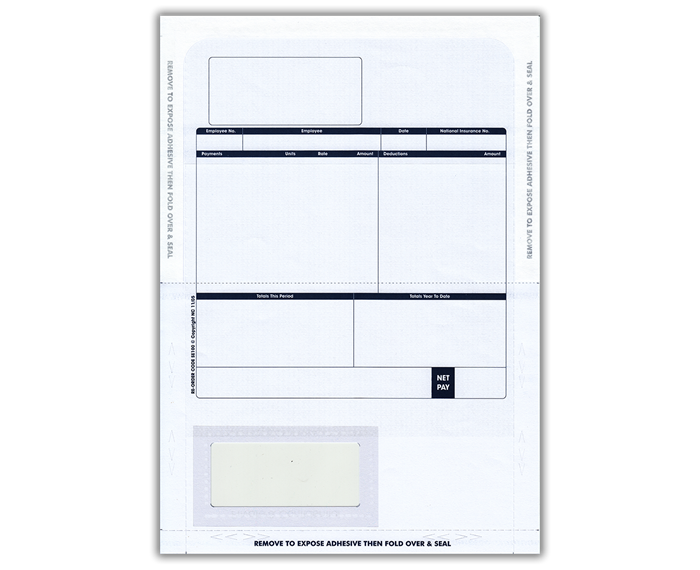 Custom Forms Sage Comp Tape Seal Payslip Mailer BX500