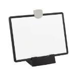 Tripp Lite DMWP811VESAMB Magnetic Dry-Erase Whiteboard with Stand - VESA Mount, 3 Markers (Red/Blue/Black), Black Frame