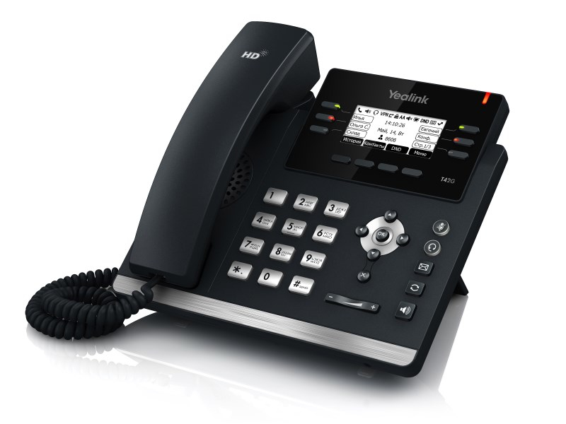 Yealink SIP-T42GN Wired handset LED Black IP phone
