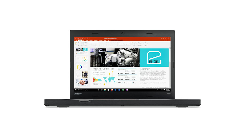 "Lenovo ThinkPad L470 2.40GHz i3-7100U 14"" 1366 x 768pixels Black Notebook"